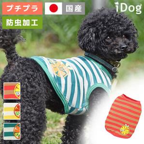 アウトレット iDog オレンジボーダータンクmoscape アイドッグ 【 卸 犬服 】
