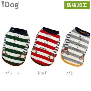 iDog サスペンダーボーダータンク moscape アイドッグ 防虫 モスケイプ 虫よけ【 卸 犬服 】