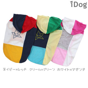 【MAX7%OFF★iDog春夏ウェアセール 卸率55%→48%】iDog 中大型犬用切替パイルパーカー アイドッグ