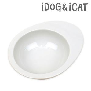 IDOG&ICAT オリジナル ドゥーエッグフードボウル 無地ホワイト
