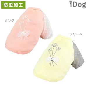 iDog ブーケパフスリーブTシャツ moscape アイドッグ 防虫 モスケイプ 虫よけ【 卸 犬服 】