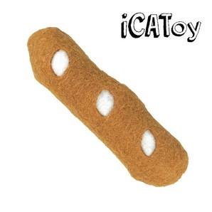 iCat iCaTOY フェルトのケリケリフランスパン キャットニップ 入り