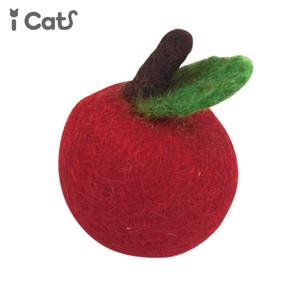 iCaTOY コロコロフェルトTOY りんご 【 卸 猫用品 】