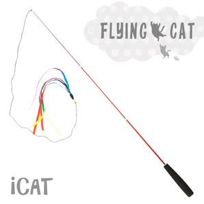 iCat FLYING CAT 釣りざお猫じゃらし レインボーリボン