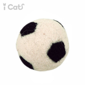 iCaTOY コロコロフェルトTOY サッカーボール 【 卸 猫用品 】
