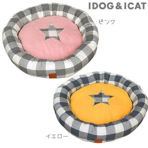 IDOG&ICAT チェックスタードーナツベッド アイドッグ 【 卸 ベッド 】