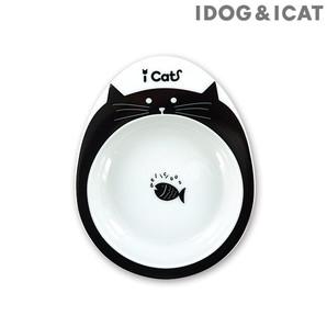 IDOG&ICAT ドゥーエッグフードボウル浅皿 キャットフェイス