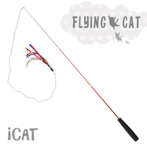 iCat FLYING CAT 釣りざお猫じゃらし スパークルカラーテープ