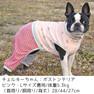 ボストンテリア5.3kgのチェルキーちゃんはピンクのLを着用