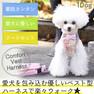 iDog 犬用コンフォートハーネス リード付き リボンとチェック アイドッグ【卸 犬用品】